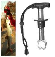 Wholesale fish lip gripper grabber resale online - Equipment Accessory Stainless Steel Lip Grip Grabber Fish Gripper Fishing Gadgets Tool Black Fish Grip for Fishing