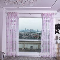Wholesale new style curtains home resale online - 2019 New Fashion Modern Style Leaves Terry Cut Flowers Transparent Polyester Fabric Curtain Rod Home Decorations