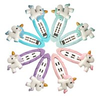 Wholesale plastic hair barrettes for children for sale - New Arrival Children Unicorn Hair Clip Baby Cute Animal Barrettes Diy Hair Accessories Gift for Kids Price