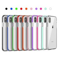 Wholesale apple iphone cell phone bumpers online – custom For Iphone PRO XS max XR X plus Silicone bumper cell phone case clear soft cover shockproof gel colorful case cover slim