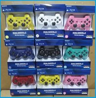 controllers al por mayor-Controladores de alta calidad Controladores inalámbricos Controladores de juegos Doble descarga para la videoconsola portátil PS3 Consola de juegos DHLFREE