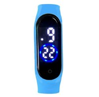 Wholesale led silicone watch resale online - New M4 Digital LED Touch Electronic Watch Bracelet M Waterproof Men Women Sports Watches Glass Dial Silicone Wristwatch
