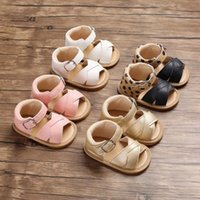 Wholesale cool beach sandals resale online - Baby Shoes First Walkers Fashion Baby Girl Boys Sandals Toddler Kids Nursery School Summer New Leather Shoes Cool Beach