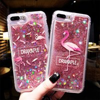 Wholesale note style cases resale online - Glitter Liquid Cases Hard PC Shining Bling Style For IPhone X XR XS MAX Flamingo Back Cover For iPhone Plus