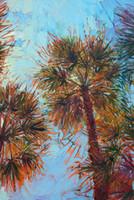 öl leinwand palmen großhandel-Kunstwerk -palm-color3- Ungerahmt moderne Leinwand Wandkunst für Heim und Büro Dekoration, Ölgemälde, Tiermalereien, Rahmen