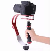 estabilizador para gopro venda por atacado-Handheld estabilizador suporte do suporte da câmera gimbal para nikon canon sony gopro camera esporte dv liga de alumínio handheld ação estabilizador grip