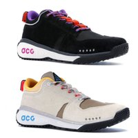 Wholesale women brand low shoes online - Brand New ACG Dog Mountain Designer Shoes Black White Beige Running Shoes Men Women Sport Sneakers Size