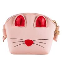 monederos rosados lindos al por mayor-Pink Little Girls Crossbody Purse Cute Cat bandolera para niñas, niños, niños pequeños