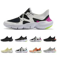 zapatos de verano de punto para las mujeres al por mayor-Nike 2019 Cheap Free RN 5.0 Mens Running Shoes Male Designer Sports Sneakers Summer Cool Breathable RUN men Women Lightweight Knit Shoes 36-46