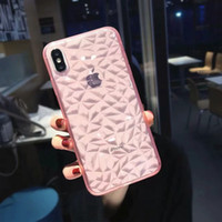 Wholesale crystal bling gel case for sale – best Bling Diamond Soft TPU Case For Iphone XR XS MAX X Plus S D Checkered Grain Silicone Rubber Back Slim Rose Gold Crystal Gel Cover