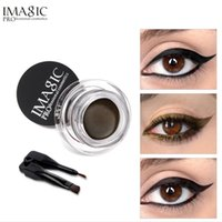 Wholesale gel eyeliner online - IMAGIC Gel Eyeliner Not Blooming Makeup Palette Matte Waterproof Lasting Eye Liner Gel Cream With Brush