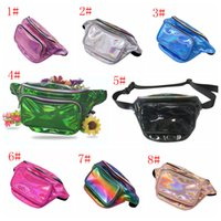 Wholesale mobile zipper pouch resale online - 8styles Laser Waist Bag Travel Pouch Waist Belt Bag Mobile phone jogging Zipper Storage Bags Kids Purse outdoor sport coin bags FFA1775