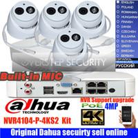 dahua 4k venda por atacado-Original Dahua mutil linguagem 4MP H.265 POE Câmera IP DH-IPC-HDW4433C-A Sistema de Câmera de Segurança Ao Ar Livre 4CH 4 K NVR NVR4104-P-4KS2 Kit
