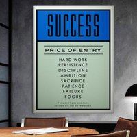 Wholesale canvas print prices resale online - Alec Monopoly quot PRICE OF ENTRY quot Home Decor Handpainted HD Print Oil Painting On Canvas Wall Art Canvas Pictures