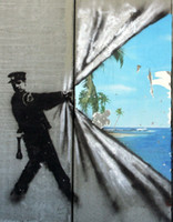 Wholesale paradise paintings for sale - Group buy Banksy Street graffiti Urban Art Painting paradise Home Decor Handpainted HD Print Oil Painting On Canvas Wall Art Canvas Pictures