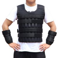 gewichtete westen groihandel-20kg Weighted Vest Einstellbare Laden Gewicht Jacke Weightloading Weste Boxtraining Weste EDF88