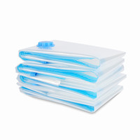 вакуумные мешки бесплатная доставка оптовых-Бесплатная доставка Space Saver Вакуумные мешки для хранения 8 шт. Набор Ткани Одеяла Пальто Вакуумные мешки для хранения с ручным насосом