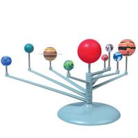 juguetes para niños al por mayor-El Sistema Solar Nueve planetas juguetes Proyecto Planetario Modelo kit de la ciencia Astronomía educación temprana para niños Wiith caja al por menor LA247