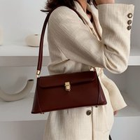 Wholesale hand bag black brown resale online - Brand Designer Shoulder Bags For Women Handbag Ladies Simple Hand Bags Korea Tote Bag Fashion Casual Quality Baguette Bag