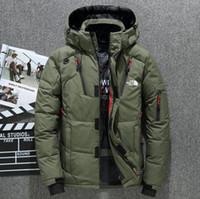 homens hoodie casaco venda por atacado-New do inverno norte outdoor Homens vestuário jaquetas casacos Goose Parkas engrossar manter quentes hoodies outerwear ao ar livre enfrentar Jackets Overcoat