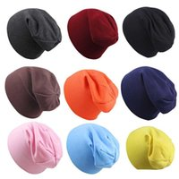 Wholesale baby boy birthday hat for sale - Group buy 2019 Autumn Toddler Baby Boy Girl Solid color Infant Cotton Soft Hip Hop Hat Beanie Cap Gorro Beanie De Bebe Birthday gift C21