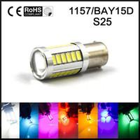 Wholesale bulbs 12v 5w resale online - 1x P21 W LED Car Light BAY15D led Bulb Tail Signal Brake Stop Reverse DRL Light W V smd Yellow White Blue
