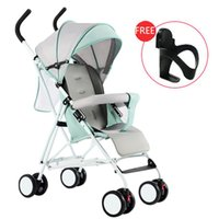 складывающиеся колеса оптовых-Kidlove Lightweight Folding -proof Sitting Baby Stroller with 4 Wheels Absorber Folding Baby Carriage Bassinet 0-3Y