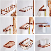 Wholesale paper cup gold for sale - Group buy MTTUZK Luxury Rose Gold Copper Bathroom Accessories Set Paper Holder Towel Bar Soap Dish Towel Rack Robe Hook Cup Holder