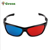 Wholesale plastic anaglyph 3d glasses for sale - 2017 New Universal D Plastic Glasses Black Frame Red Blue D Visoin Glass For Dimensional Anaglyph Movie Game DVD Video TV