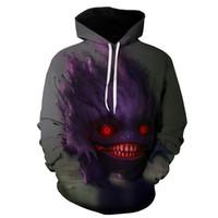 Wholesale mens 3d skull sweatshirt hoodie for sale – custom Mens Women Pullover Hoodies Tokyo Ghoul D Digital Print Hooded Sweatshirt Lovers Casual Fashion Wear Males Top Clothes