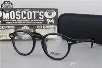 Wholesale metal myopia frame online - Brand Designer Luxury vintage Moscot Miltzen Johnny Depp Prescription Glasses Optical Eyeglasses Anti blue Myopia Glasses Frame With Org Box