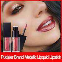 Wholesale liquid lip pigments for sale - Group buy 2018 Famous brand Pudaier Metallic Liquid Lipstick Lips Makeup Long Lasting Pigment Nude Gold Nude Liquid Velvet Metal Lipgloss