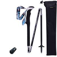 Wholesale carbon iron for sale - Group buy Outdoor Off Road Trekking Pole Carbon Fiber Alpenstock Non Slip Women And Men Convenient Black Practical Flexible ad C1