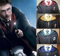 ingrosso cravatta del mantello-Qualità Harry Potter Robe Mantello Tie Capo Halloween Cosplay figli adulti Robe Grifondoro Serpeverde Corvonero 4 Casa Mantello QZZW117
