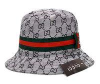 Wholesale wide brimmed golf hats women resale online - NEW Good Quality bucket cap Foldable Fishing Caps GCC brand Bucket cap Hot Beach Sun Visor Sale Folding Man Bowler Cap