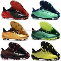 tamaño niños fútbol al por mayor-Zapatos de fútbol para niños X17.1 Fg Boys Botas de fútbol Champagne Mujeres Fútbol juvenil para Ace 17.1 Tamaño 35-46