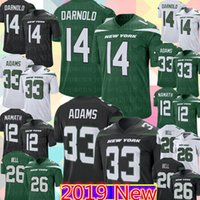 e0eb4408 Jets Sam Darnold Jamal Adams Jersey 2019 New York Jet 26 Le'Veon Bell 12  Joe Namath Football Jerseys #14 #33 Men's Color Rush Black