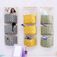 Wholesale hanging closet storage bags for sale - Group buy Waterproof Storage Bag Wardrobe Closet Organizer Hanging Organizers for Toy Cosmetic Sundries Makeup Pouch Hanging Storage Box EEA1646