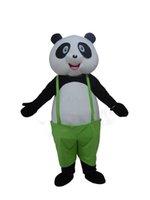 panda fantasia venda por atacado-Alta qualidade quente Panda Bonito Traje Da Mascote Kungfu Panda Costume Festa de Aniversário de Natal Do Vestido Extravagante