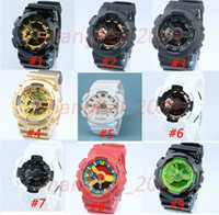 Wholesale small tags resale online - 5pcs relogio men s sports watches LED chronograph wristwatch military watch gift digital watch small pointers no work no box