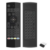 android-tv-box-bewegung großhandel-Air Mouse Fernbedienung Wireless 2.4G Tastatur Hintergrundbeleuchtung Motion Sensing Spiel IR Lerntasten für Smart TV Android TV Box Air Mouse