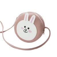 Wholesale rabbit computer for sale - Group buy 2019 Fashion Cartoon Cute Rabbit Small Round Bag Single Shoulder Hand Bags For Female Women Ladies Girls Bag Mini Handbag