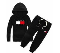 meninos hoodies sem mangas venda por atacado-Marca das crianças com capuz e calças terno de algodão das crianças baby boy girl designer terno terno do bebê 2 peças / set