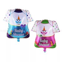 Wholesale supplies baby clothing online - Babys Clothes Balloon Child Boy Girl Birthday Party Baby Shower Decoration Supplies The New Hot Sales Colorful fbC1