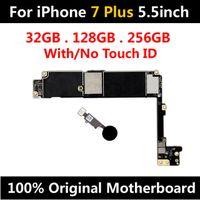 ingrosso scheda madre apple-Factory Sblocca la scheda madre originale per iPhone 7 Plus da 5,5 pollici con / No ID Touchboard IOS installato Test della scheda logica installato Buono