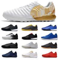tiempo cleats al por mayor-2019 nuevos zapatos de fútbol TimpoX Finale TF para hombre Suelos suaves Ronaldo Neymar Botas de fútbol Barato Tiempo Legend VII MD Tacos de fútbol para interiores