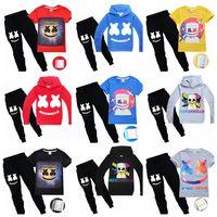Wholesale woven clothes for sale - Group buy DJ Marshmello Mask T Shirt Boys Sweatshirts Set Kids Clothes Girl Tops Hoodies Tracksuits Marshmello DJ Headgear