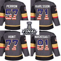 Wholesale usa flag nylon resale online - 2018 Stanley Cup Final Patch Men Lady Kid Vegas Golden Knights USA Flag David Perron William Karlsson Brad Hunt Marchessault Hockey Jerseys