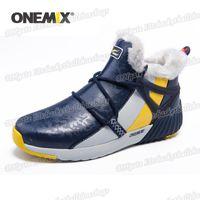 Wholesale outdoor waterproof mesh shoes resale online - Onemix Winter Man Boots Warm Wool Sneakers Sport Shoes Outdoor Comfortable Running Shoes For Men Waterproof Winter Walking Shoes
