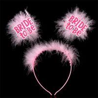 ingrosso piume di colore rosa nere-Copricapo da donna Feste per feste Decorazione Sera sociale Fibbia per testa Piccolo regalo Sposa per essere piuma Plastica Nero Rosa 1 88mtC1